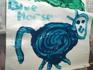blue-horse-fingerpaint