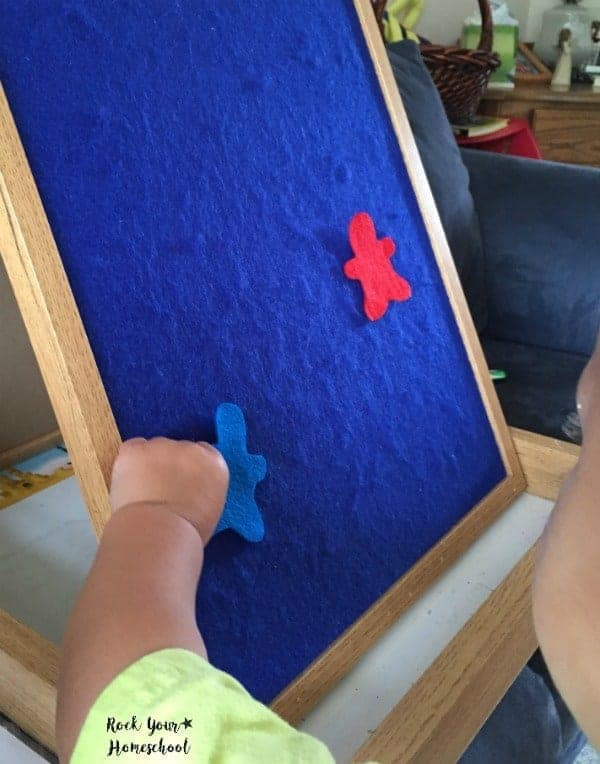 Use a felt board with cut outs during story time to engage your kids.