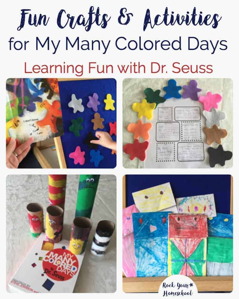 Want to have some learning fun with kids of all ages? Check out these fun crafts & activities for My Many Colored Days, a book by Dr. Seuss.