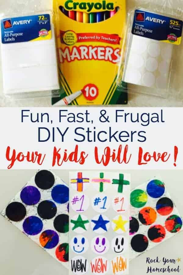 Want a fun, fast, & frugal way to keep the kids busy? Try these DIY stickers for hours of creative fun.