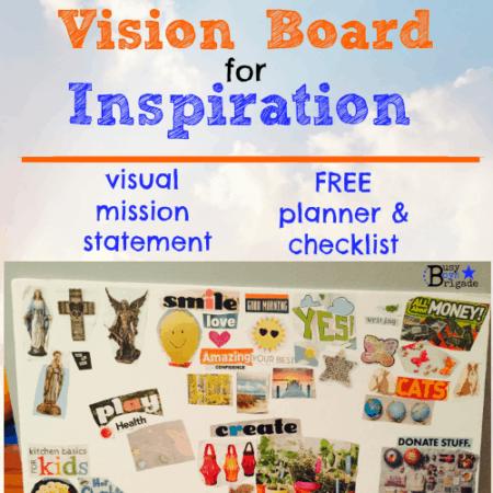 homeschool vision board