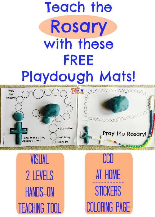 rosary playdough mats