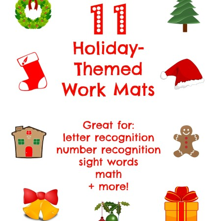 holiday-themed work mats