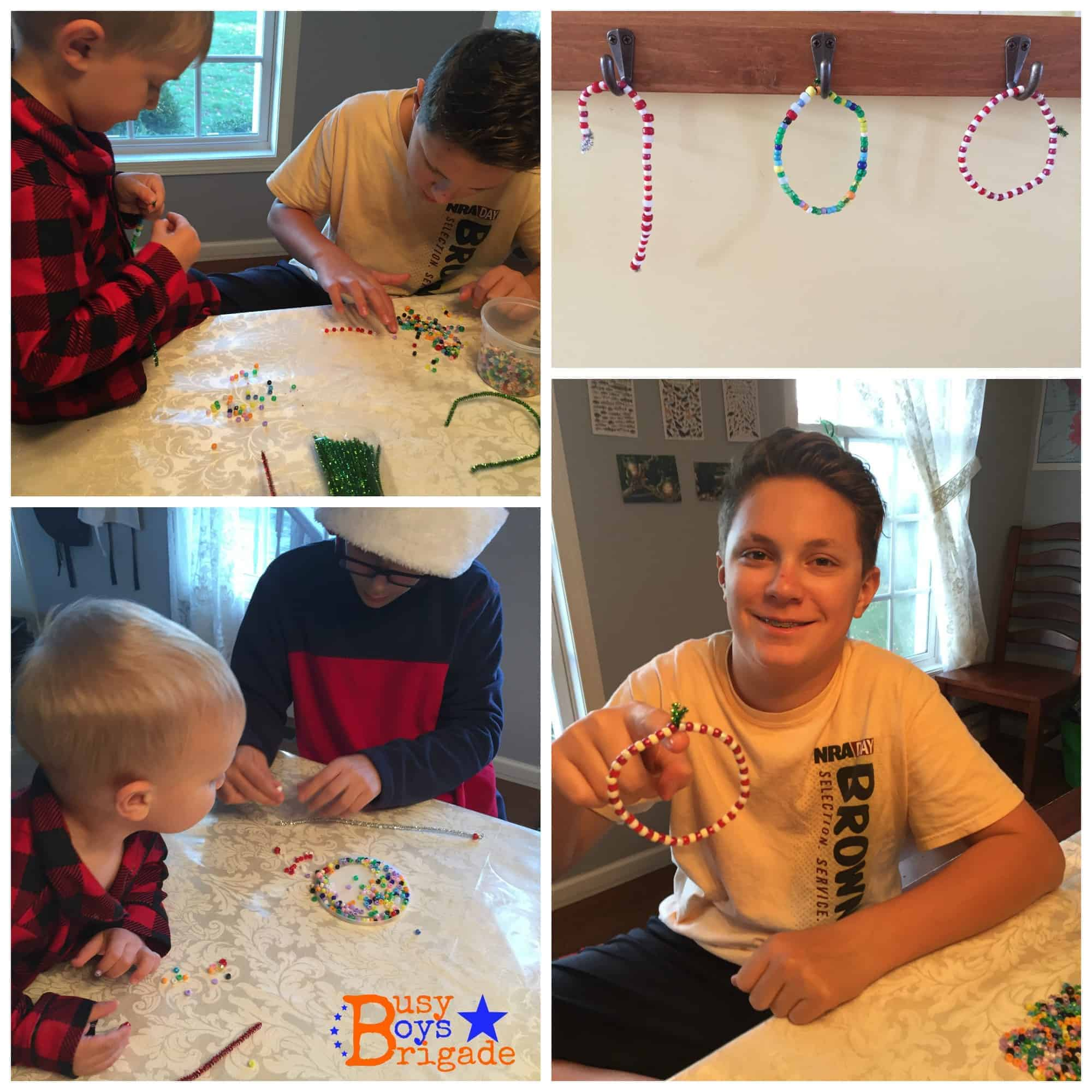 holiday learning fun pony beads pipe cleaner