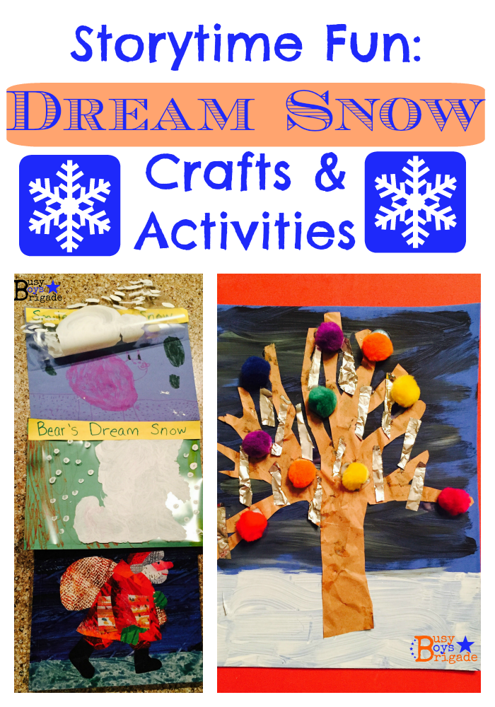 Storytime Fun Dream Snow Crafts Activities Rock Your Homeschool