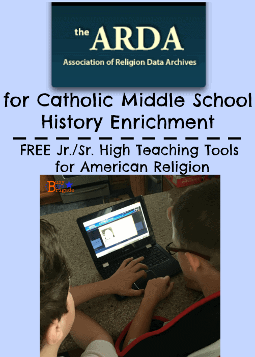 the ARDA Catholic Middle School History enrichment