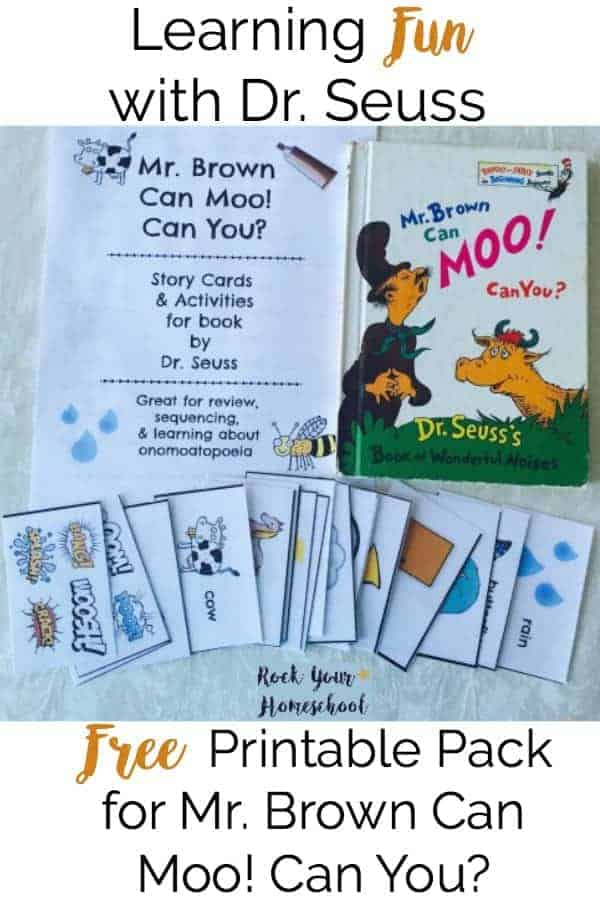 image about Printable Dr Seuss Books identify Absolutely free Printable Pack For Mr. Brown Can Moo! Can Yourself? - Rock