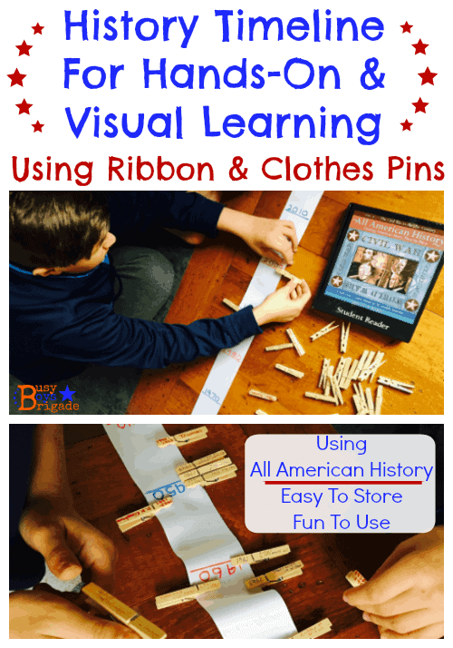 Ribbon History Timelines Using All American History-Busy Boys Brigade