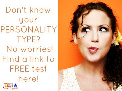 Don't know your personality type? Find out more about it through link to free test! Use to help build homeschooler confidence.