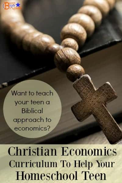 Learn more about this resource on Christian economics to help your homeschool teen. Curriculum by Institute for Faith, Work & Economics will help you teach your homeschool teens how to be good stewards of their money and time.