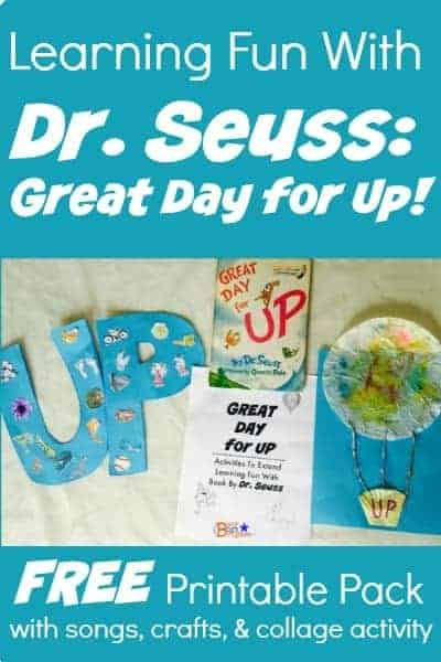 Check out these activities and crafts for Great Day for Up by Dr. Seuss. Includes free printable pack!