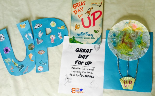 Great Day for Up by Dr. Seuss is a fantastic book for early readers. Check out this DIY collage and hot air balloon craft!