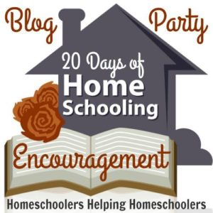 Check out these great resources, ideas, and stories on homeschooling encouragement. 20 Days of Homeschooling Encouragement Blog Party is dedicated to homeschoolers helping homeschoolers find support and inspiration.
