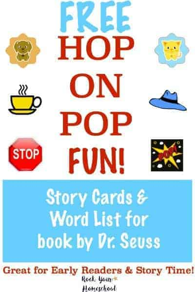 Love Dr. Seuss? Here are some FREE Hop On Pop Fun! printables. Great for early readers & story time, these 32 cards and word lists will make for great learning fun.