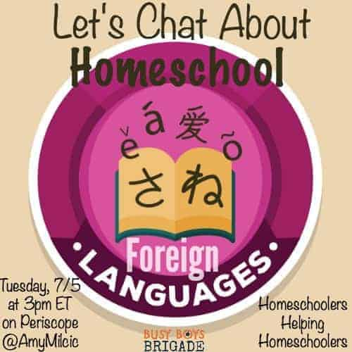 Let's Chat About Homeschool Foreign Languages is part of a blog & Periscope series dedicated to homeschoolers helping homeschoolers with curriculum choices.