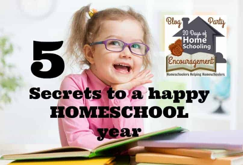 Discover the 5 Secrets To A Happy Homeschool Year! Lindsey of Project Love & Peace shares her tips on how to rock your homeschool year. Part of 20 Days of Homeschooling Encouragement Blog Party.