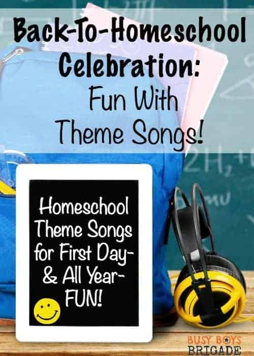 Get inspired for a fantastic back-to-homeschool celebration! Discover why choosing & using homeschool theme songs will help you rock your homeschool!