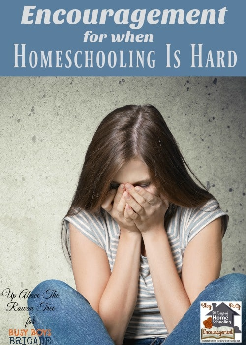 Find encouragement for when homeschooling is hard here at 20 Days of Homeschooling Encouragement Blog Party. Homeschoolers like you sharing their experiences and tips for support.