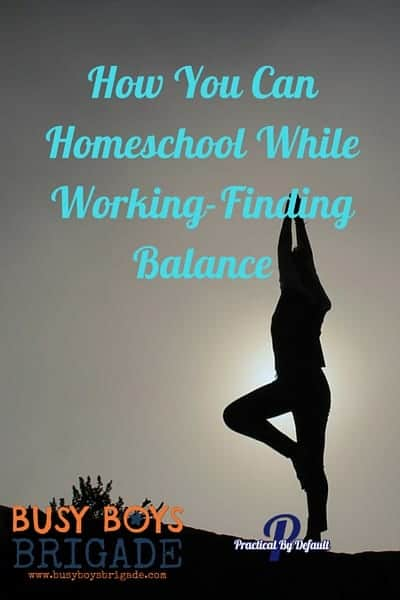 Discover how you can homeschool while working! According to Jen at Practical By Default, the key is to finding balance. Find more tips & resources like this over at 20 Days of Homeschooling Encouragement Blog Party.