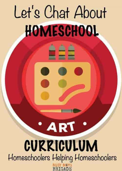 Let's chat about homeschool art curriculum is part of a blog & Periscope series dedicated to homeschoolers helping homeschoolers.