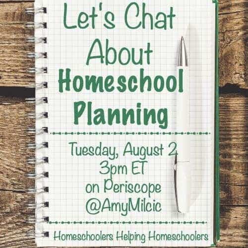 Let's chat about homeschool planning is part of a Periscope and blog series dedicated to homeschoolers helping homeschoolers.