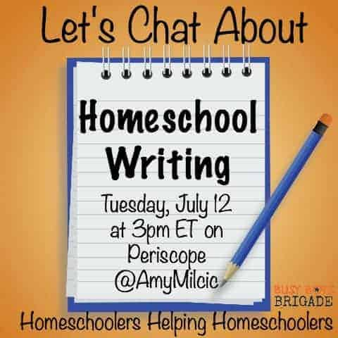 Let's chat about homeschool writing is part of a Periscope & blog series dedicated to homeschoolers helping homeschoolers.