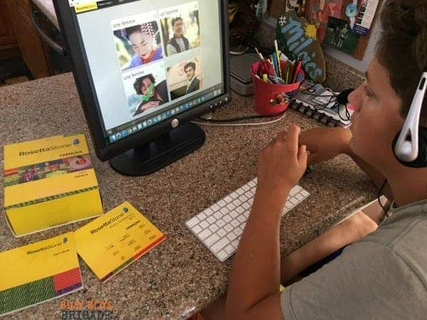 Looking for a quality foreign language curriculum for your homeschool family? Discover why we love Rosetta Stone Homeschool French for our large homeschool family.
