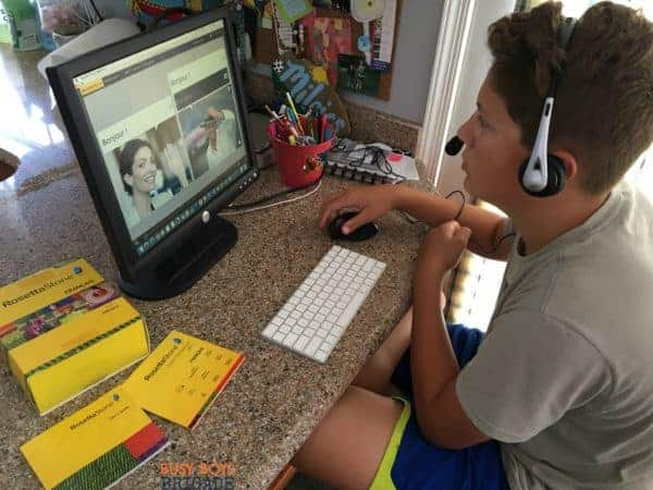 Rosetta Stone Homeschool French is an effective way for homeschool families to teach foreign languages.