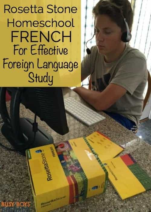 Looking for way to teach your kids a foreign language? Discover why Rosetta Stone Homeschool French is an effective way for homeschool families to provide their children with quality foreign language studies.