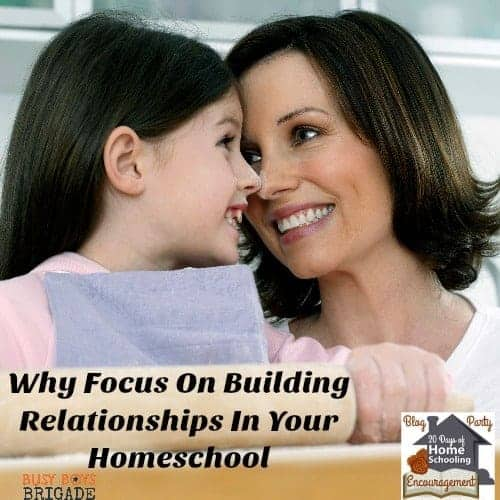 Why Focus On Building Relationships In Your Homeschool square girl mom