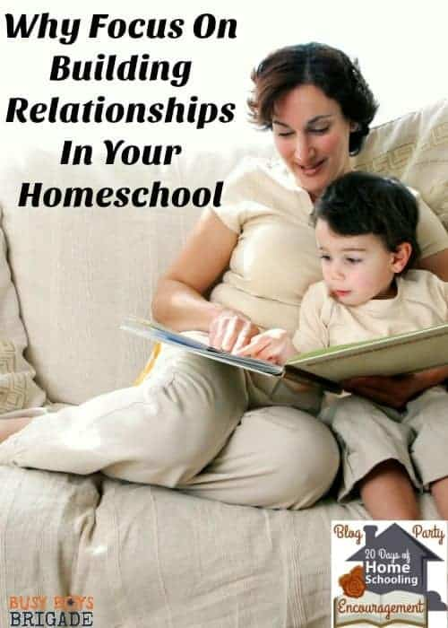 Discover why focusing on building relationships in your homeschool is so important. Jess from Intentional In Life shares her ideas & tips in 20 Days of Homeschooling Encouragement Blog Party.