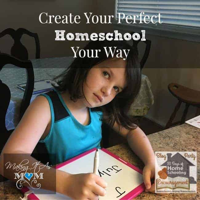 Read recommendations from Karen from Making It As Mom for helping your create your own perfect homeschool. Part of 20 Days of Homeschooling Encouragement.