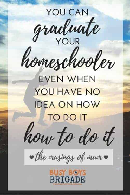 You Can Graduate Your Homeschooler Even When You Have No Idea On How To Do It! Tatiana of The Musings of Mum shares from her experiences on how she has successfully graduated homeschoolers-even with a late start. Part of 20 Days of Homeschooling Encouragement Blog Party.