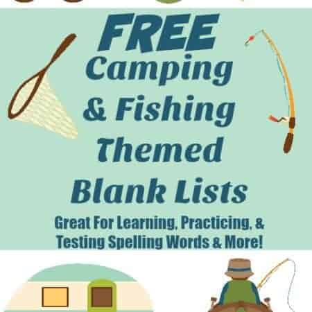 Free Camping Fishing Themed Blank Lists tall