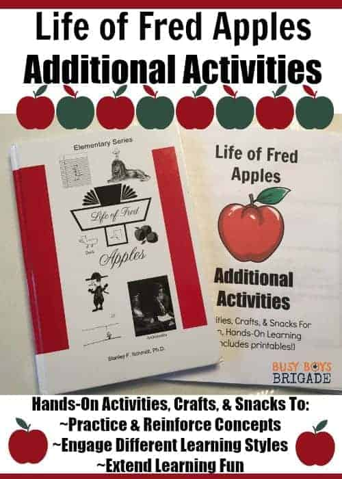 "Do you use Life of Fred Elementary Math with your kids? Or want to but not sure if it's ""enough"" or how to do more? Life of Fred Apples Additional Activities includes hands-on activities, crafts, & snacks for each chapter! Extend learning fun with Fred while reinforcing concepts."