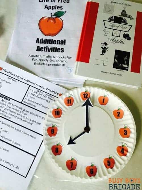 Use this Apple Clock for Chapter 6 of Life of Fred Additional Activities to extend the learning fun!