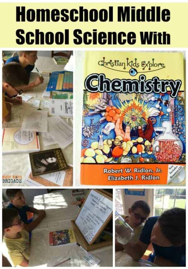 Are you looking for an affordable & effective homeschool middle school science resource? Learn more about Christian Kids Explore Chemistry. Hands-on activities and straightforward explanation will help you teach your kids chemistry.