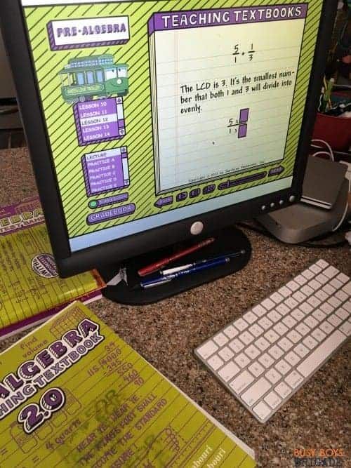 Teaching Textbooks homeschool math curriculum is an engaging way to get your reluctant math students excited about mathematics!