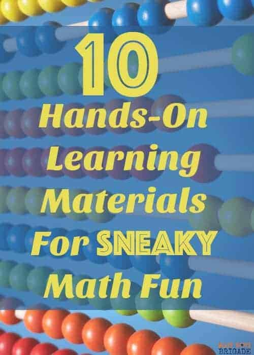 Looking for some stealthy ways to get your kids to learn? Check out these awesome 10 hands-on learning materials for sneaky math fun. Help your kids have have fun & learn when they don't even realize it!