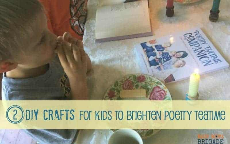 Have fun with these 2 easy DIY crafts for kids to brighten poetry teatime. Learn more about how this special time can be used to study poetry & much more. Get your kids involved & help them personalize their poetry teatime experience.