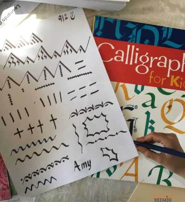 Calligraphy is a great activity to undertake with your family. Learn with your kids and make special connections while building skills.