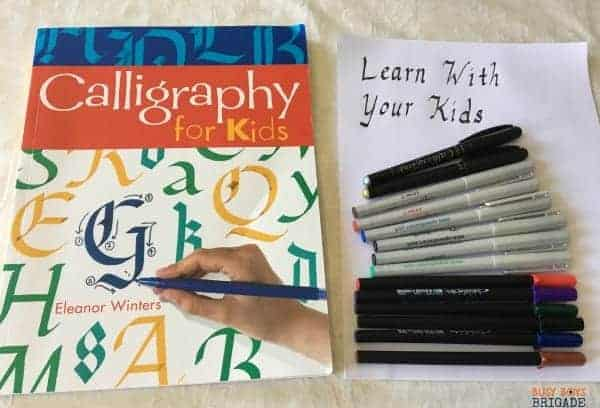 Consider calligraphy as an activity to learn with your kids. Great way to build skills & relationships!