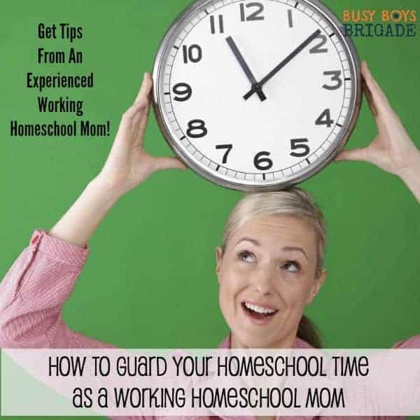 Get great tips from an experienced working homeschool mom on how to guard your precious homeschool time.