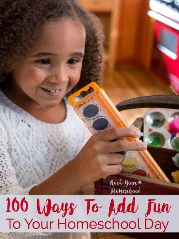 GIVEAWAY with prize of $100 Usborne Books ends 12/5!  Discover 100 Ways To Add Fun To Your Homeschool Day! Awesome tips & resources to help you make your homeschooling experience engaging & fun. Find more great homeschool tips, resources, & free printables at rockyourhomeschool.net