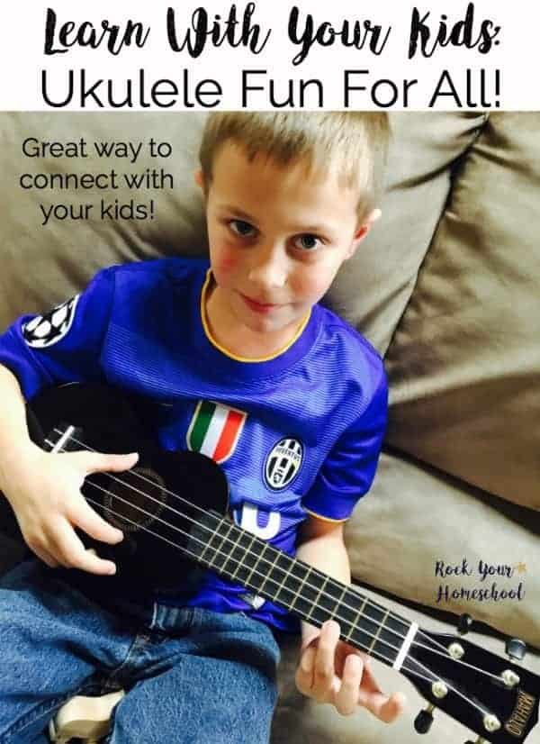 Are you looking for a fun way to connect with your kids? Consider learning something new-right along side your kids! The ukulele is a fabulous instrument to help you & your kids create great memories & learn new skills.