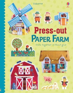 Usborne Press-Out Paper Farm is a great way for younger kids to have fun with crafts.