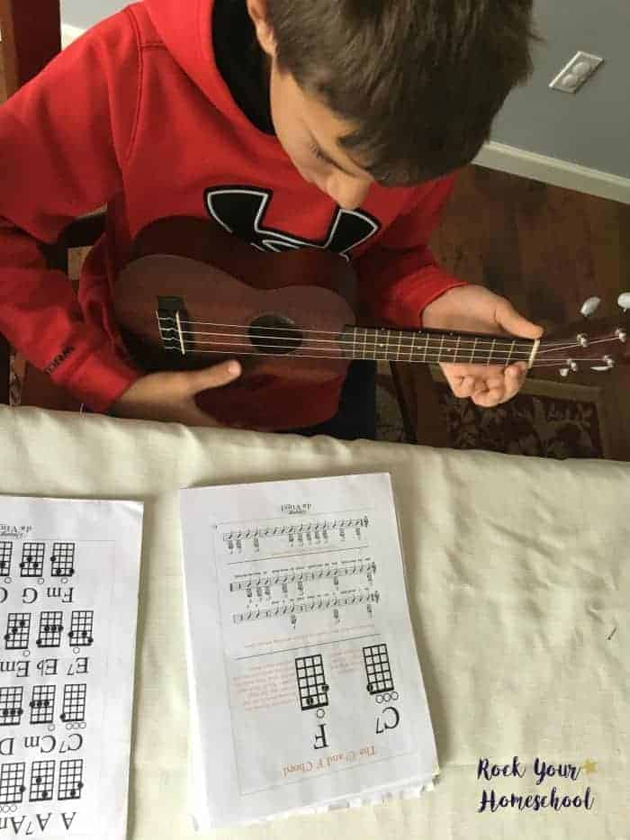 You will find the ukulele a wonderful musical to learn with your kids.