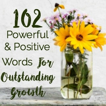 102 Powerful & Positive Words For Outstanding Growth product page
