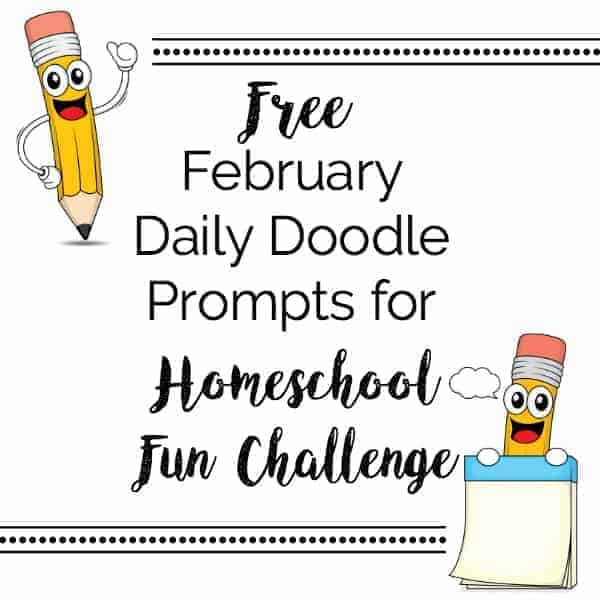 Add sparkle to your homeschool learning fun with our daily doodle prompts. Get your free instant download now for February!