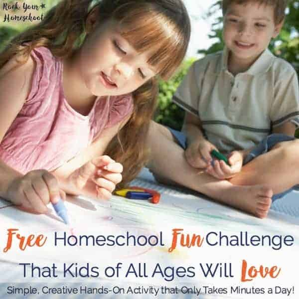Join our HOMESCHOOL FUN challenge! Find out how this simple, effective, & free daily activity can spark creativity & so much more! Includes FREE printable + video demonstrations.